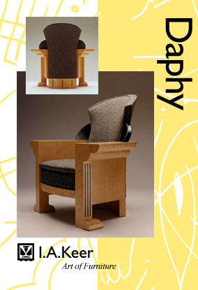 Art of Furniture by I.A. Keer: Daphy -  winged wood armchair
