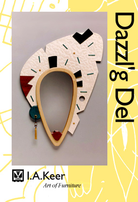 Art of Furniture by I.A. Keer: Dazzl'g Del - decorative wood wall mirror